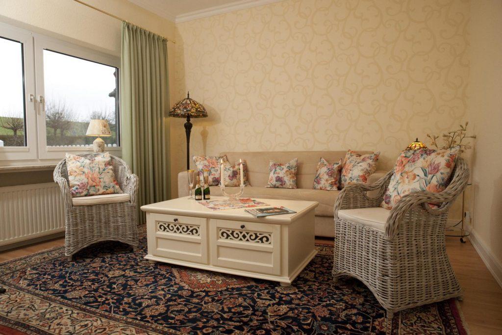Ferienwohnung Elbdeich 2 Wohnzimmer
